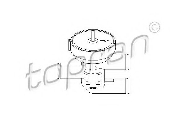206241 topran 206 241 control valve  coolant for opel