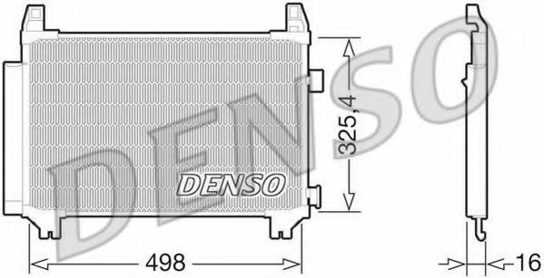 TOYOTA 884600D210 Condenser, air conditioning