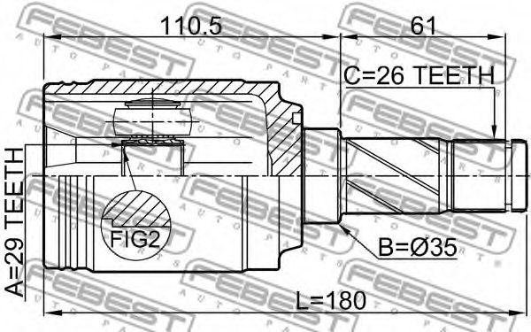 LAND ROVER LR025959 Joint, drive shaft