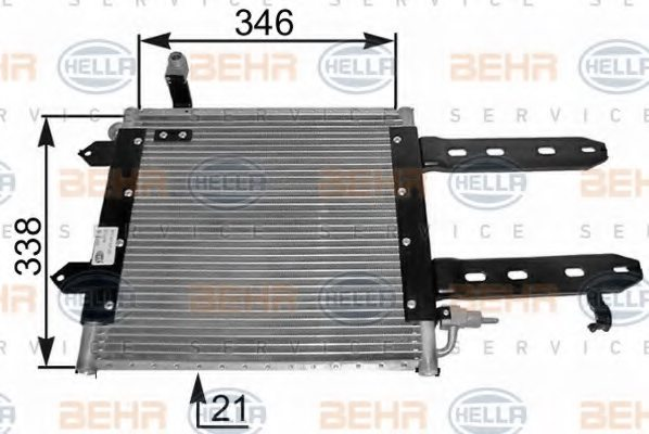VW 6N0 820 413 B Condenser, air conditioning