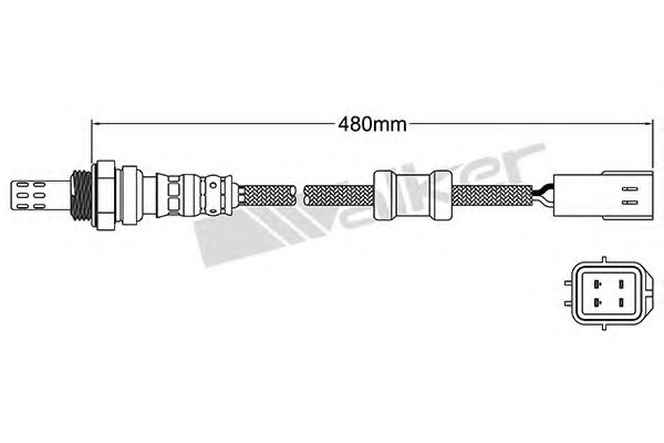 25024067 walker products 250 24067 lambda sensor for. Black Bedroom Furniture Sets. Home Design Ideas