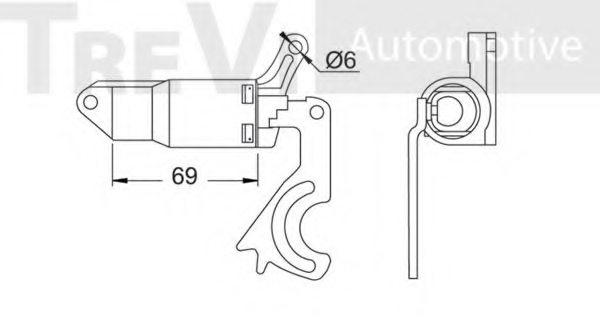 VW 050109479A Tensioner, timing belt