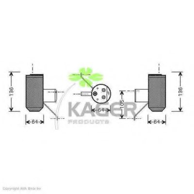 KAGER 94-5558 Dryer, air conditioning