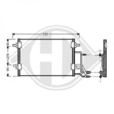 VW 4B0260403T Condenser, air conditioning