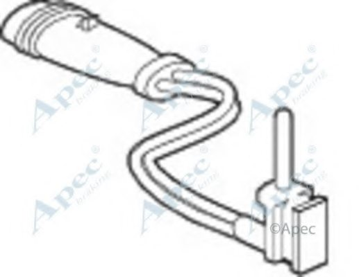 wir5133 apec braking wir5133 wear indicator  brake pad for