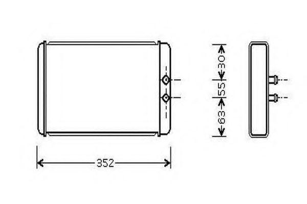 46722710 peugeot 46722710 heat exchanger  interior heating for citro n fiat peugeot