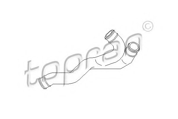 VW 06A 103 221AH Hose, cylinder head cover breather