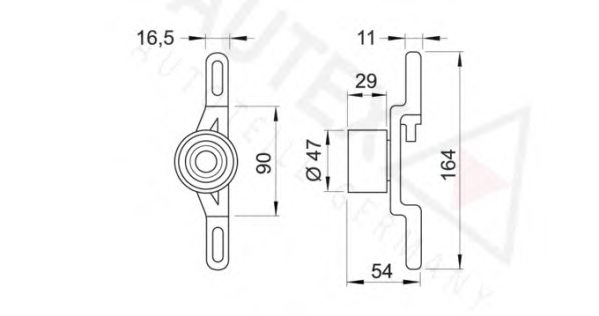 641790 autex 641790 tensioner pulley  timing belt for ford