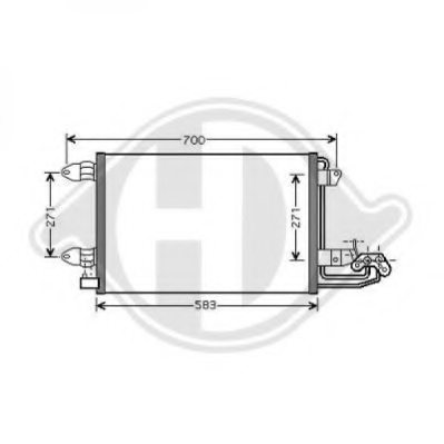 VW 1K0820411S Condenser, air conditioning