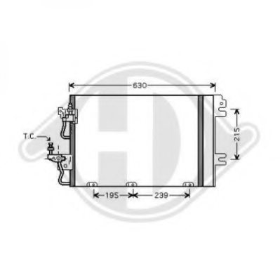VAUXHALL 1850096 Condenser, air conditioning