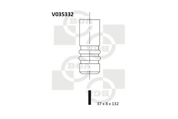 FORD 86SM6505AA Exhaust Valve