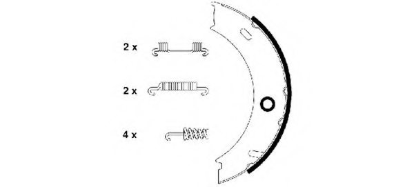 Borg /& Beck BBS6328 Brake Shoes