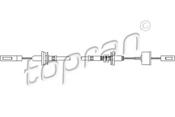 VW 321 721 335D Clutch Cable