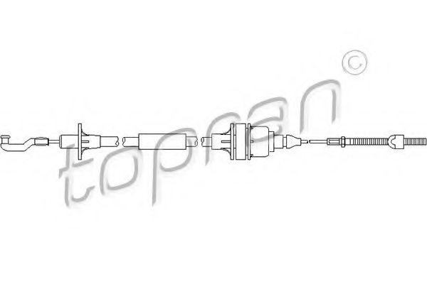 OPEL 06 69 142 Clutch Cable