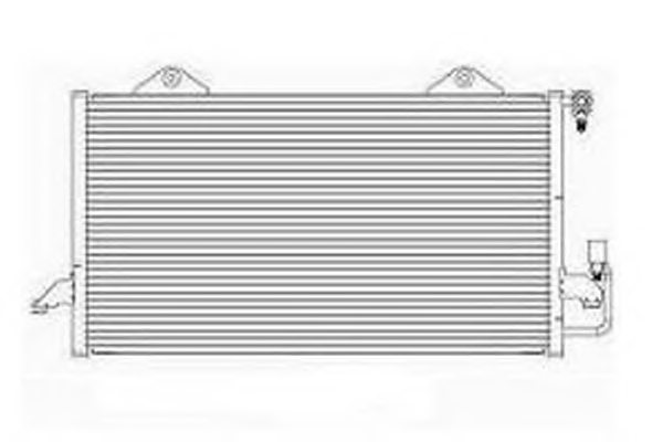 VW 8E0260403B Condenser, air conditioning