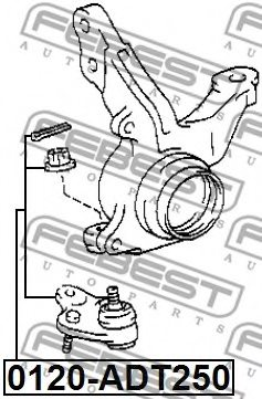 TOYOTA 43330-09360 Ball Joint