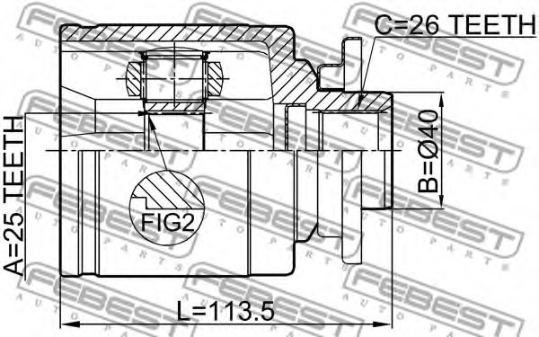 4524447ford 4524447 Joint Drive Shaft For Ford