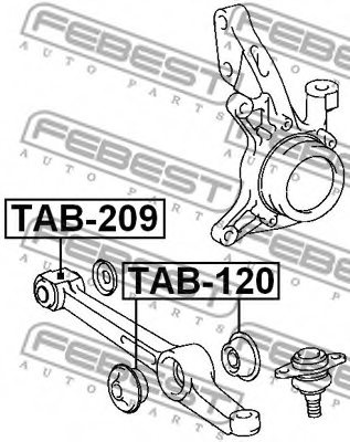 TOYOTA 48640-32050 Control Arm-/Trailing Arm Bush