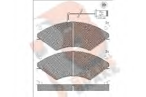 OM 190 6183 Brake Pad Set, disc brake