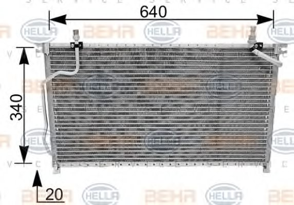 FORD 9211059G00 Condenser, air conditioning