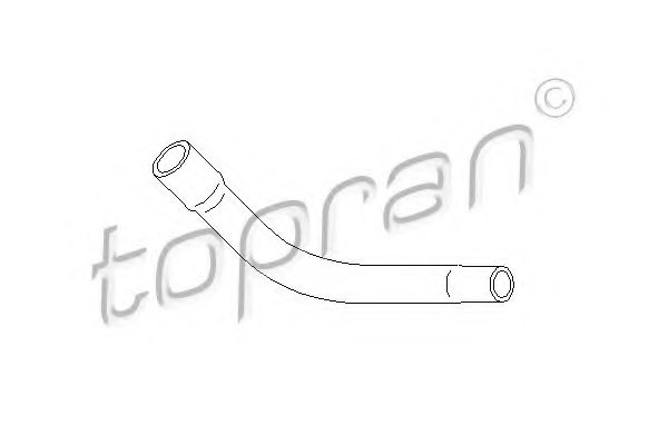 TOPRAN 206 559 Hose, cylinder head cover breather