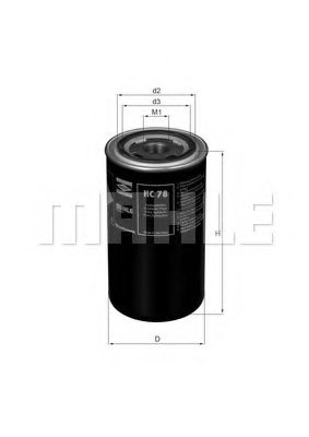 MAHLE ORIGINAL HC 78 Hydraulic Filter, automatic transmission