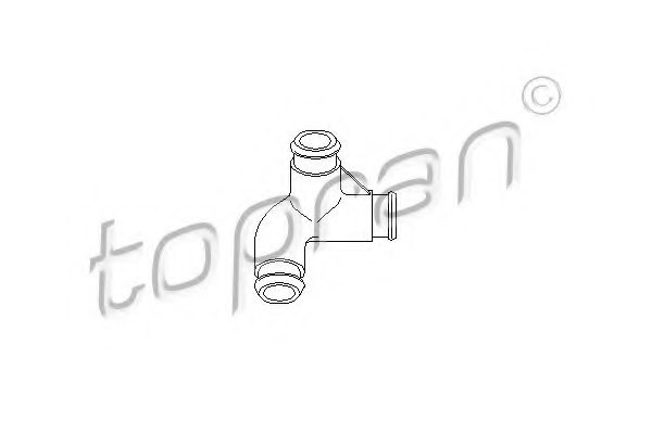 VW 06B 103 221P Hose, cylinder head cover breather