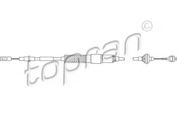 VW 357 721 335E Clutch Cable