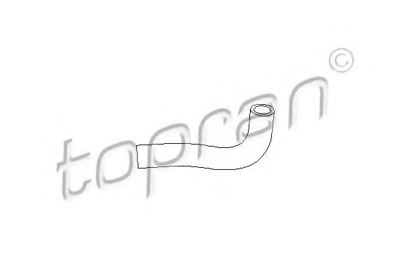 TOPRAN 101 051 Hose, cylinder head cover breather