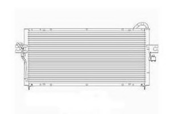 NISSAN 921102M117 Condenser, air conditioning