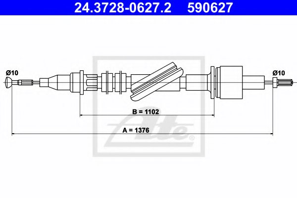 FORD 6177410 Clutch Cable