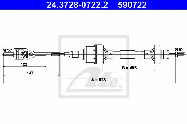 OPEL 6 69 003 Clutch Cable