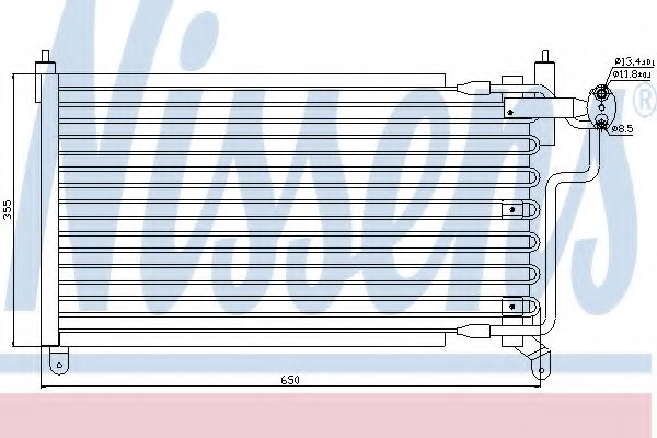 OPEL 1850 015 Condenser, air conditioning