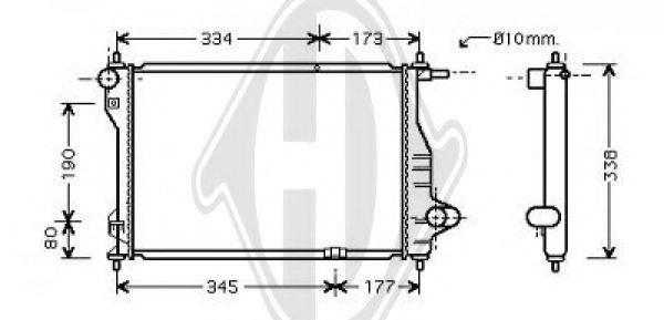 96477777 chevrolet 96477777 radiator  engine cooling for
