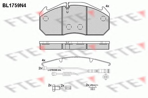 MAN 81 50820 6046 Brake Pad Set, disc brake