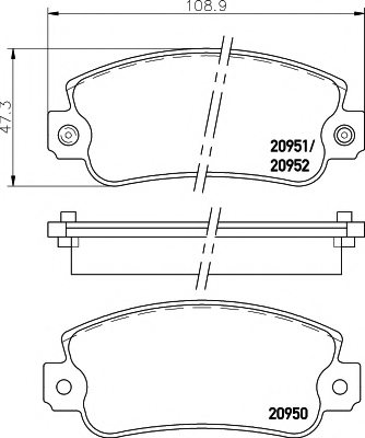 ALFA ROMEO 792538 Brake Pad Set, disc brake