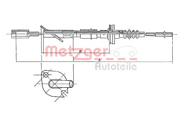 FIAT 7680262 Clutch Cable