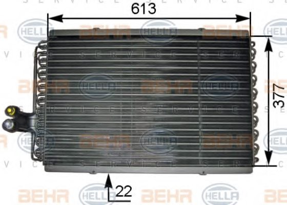 RENAULT 60 25 103 875 Condenser, air conditioning