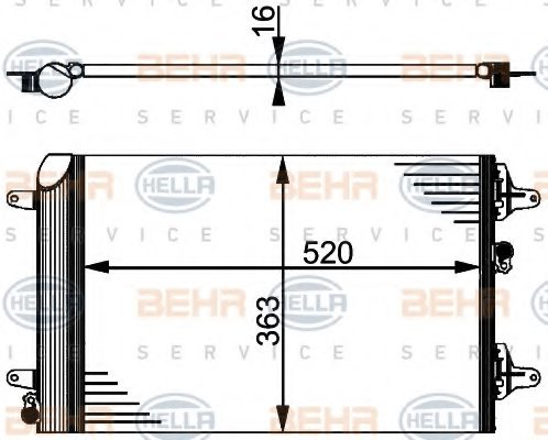 FORD 1 108 838 Condenser, air conditioning