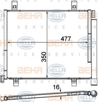 VW 1S0 820 411 G Condenser, air conditioning