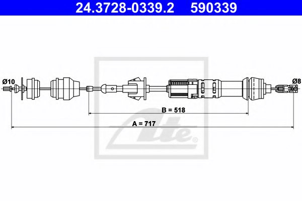 CITRO?N 2150 V2 Clutch Cable