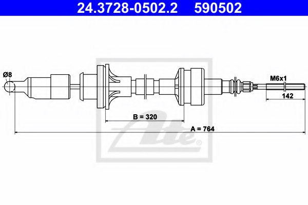 FIAT 7670999 Clutch Cable