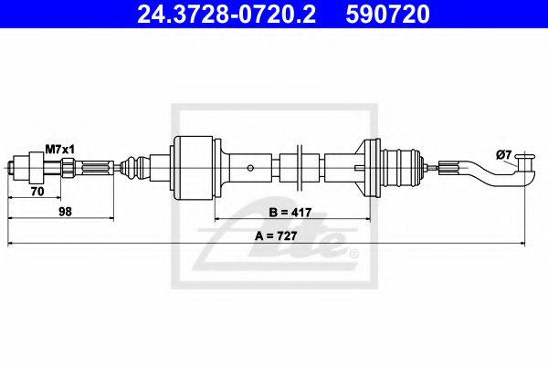 OPEL 90446929 Clutch Cable