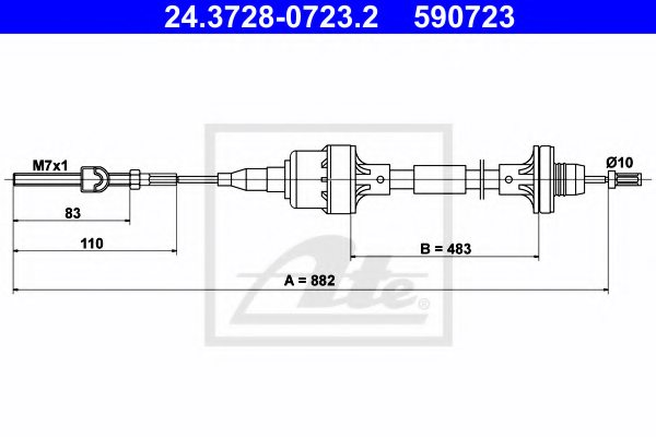 OPEL 6 69 189 Clutch Cable