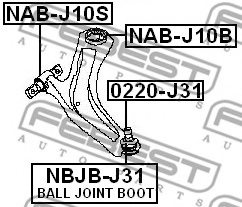 NISSAN 54500-JD000 Control Arm-/Trailing Arm Bush