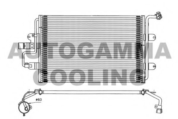 VW 1J0820413L Condenser, air conditioning
