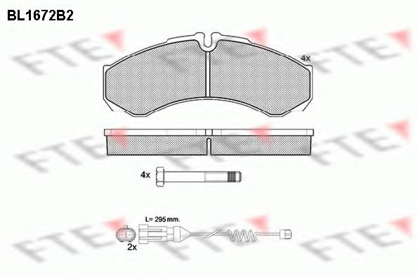 IVECO 190 9298-1 Brake Pad Set, disc brake
