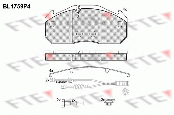 MAN 81 50820 6004 Brake Pad Set, disc brake