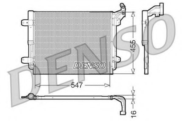 VW 5N0820411C Condenser, air conditioning