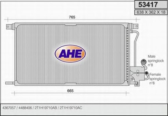 FORD 6992616 Condenser, air conditioning